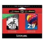 Lexmark No.28/29 Black and Color Ink Cartridge LEX18C1590