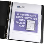 C-Line Super Capacity Sheet Protector with Tuck-in Flap CLI61027
