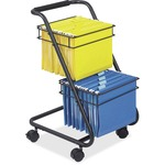 Safco Jazz Two-Tier File Cart SAF5223BL