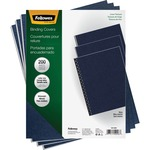 Fellowes Linen Presentation Covers - Letter, Navy, 200 Pack FEL52098