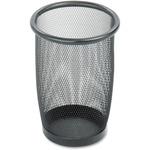 Safco Round Mesh Wastebasket SAF9716BL