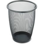 Safco Round Mesh Wastebasket SAF9717BL