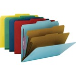 Smead 14025 Assortment Colored Pressboard Classification Folders with SafeSHIELD Fasteners SMD14025