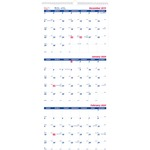 Brownline 3-Month Wall Calendar REDC171128