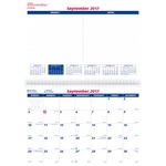 Brownline 16-Month Monthly Wall Calendar REDC171216