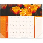 Brownline Panoramic Floral Desk Calendar REDC193110