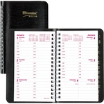 Brownline Telephone/Address Weekly Planner REDCB100JBLK