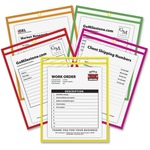 C-line Stitched Shop Ticket Holder, Neon CLI43920