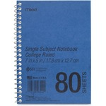 MeadWestvaco Mid Tier Single Subject Notebook MEA06542