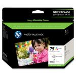 HP 75 Photo Value Pack Ink Cartridge HEWCG501AN