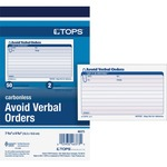 Tops Avoid Verbal Orders Book TOP46373