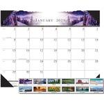 House of Doolittle One-Color Photo Desk Pad Calendar HOD140HD