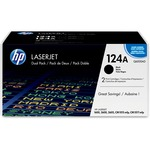 HP 124A 2-pack Black Original LaserJet Toner Cartridges HEWQ6000AD