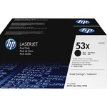 HP 53X (Q7553XD) 2-pack High Yield Black Original LaserJet Toner Cartridges HEWQ7553XD