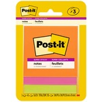 Post-it&reg 3x3 Super Sticky Jewel Pop Coll. Notes (3321SSAU)