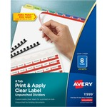 Avery Contemporary Color Tabs Divider AVE11999