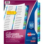 Avery Double Column Index Divider AVE11322