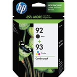 HP 92 Black/93 Tri-color 2-pack Original Ink Cartridges HEWC9513FN