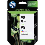 HP 98 Black/95 Tri-color 2-pack Original Ink Cartridges HEWCB327FN