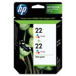 HP 22 Twin-pack Ink Cartridge - Cyan, Magenta, Yellow HEWCC580FN
