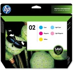 HP No. 02 Combo Pack Color Ink Cartridge HEWCC604FN
