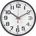 SKILCRAFT SKILCRAFT Black Body SelfSet Wall Clock NSN5573153