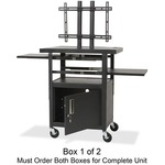 Balt Height Adjustable Flat Panel TV Cart BLT27530