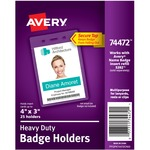 Avery Vertical Style Heavy-Duty Badge Holder AVE74472