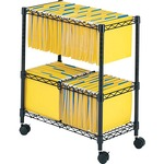 Safco 2-Tier Rolling File Cart SAF5278BL