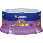 Verbatim 96542 DVD Recordable Media - DVD+R DL - 8x - 8.50 GB - 30 Pack Spindle VER96542