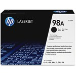 HP 98A (92298A) Black Original LaserJet Toner Cartridge HEW92298A