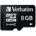 Verbatim 8GB MicroSDHC Memory Card with Adapter, Class 4 VER96807