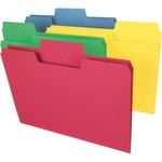 Smead 11988 Assortment Colored SuperTab File Folders with Oversized Tab SMD11988
