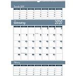 House of Doolittle Bar Harbor Triple Month Wall Calendar HOD342