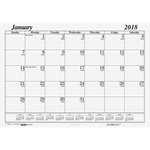 House of Doolittle Economy Desk Pad Calendar Refill HOD126