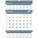 House of Doolittle Bar Harbor Triple Month Wall Calendar HOD343
