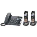 Panasonic Cordless Phone - 1.90 GHz - DECT 6.0 - Metallic Black PANKXTG9392T