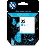 HP 82 Cyan Ink Cartridge HEWCH566A