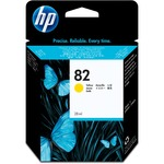 HP 82 Ink Cartridge - Yellow HEWCH568A