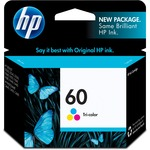 HP 60 Tri-color Original Ink Cartridge HEWCC643WN