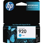 HP 920 Cyan Original Ink Cartridge HEWCH634AN