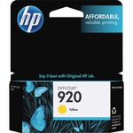 HP 920 Yellow Original Ink Cartridge HEWCH636AN