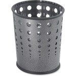 Safco Steel Bubble Wastebasket SAF9740NC