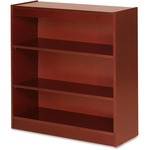 Lorell Three Shelf Panel Bookcase LLR89051