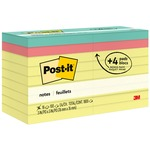 Post-it Notes Value Pack in Canary Yellow with 4 Free Pads in Bright Colors MMM654144B