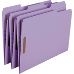 Smead 12440 Lavender Colored Fastener File Folders with Reinforced Tabs SMD12440