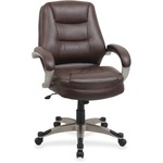Lorell Westlake Series Mid Back Management Chair LLR63281