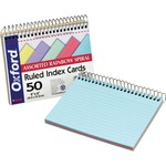 "Oxford Spiral-Bound 4"" x 6"" Index Cards ESS40286"
