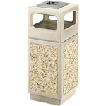 Safco Canmeleon Waste Receptacle Ash/Urn Side Open SAF9470TN