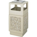 Safco Canmeleon Aggregate Side Open Receptacle with Ash Urn SAF9473TN